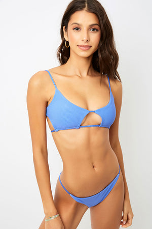 Frankies Bikinis Willa Amparo Peek a boo Rib Top