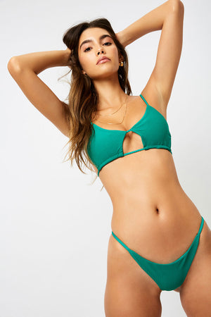 Frankies Bikinis Willa Emerald Peek-a-boo Top