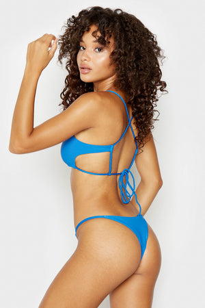 Frankies Bikinis Willa Cobalt Ribbed Skimpy Seamless Bottom