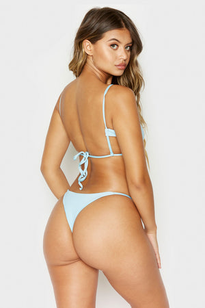 Frankies Bikinis Willa Powder Ribbed Skimpy Seamless Bottom