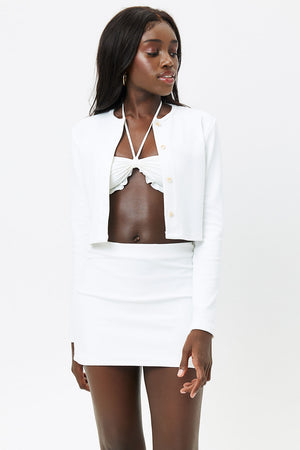 Windward White Terry Mini Skirt