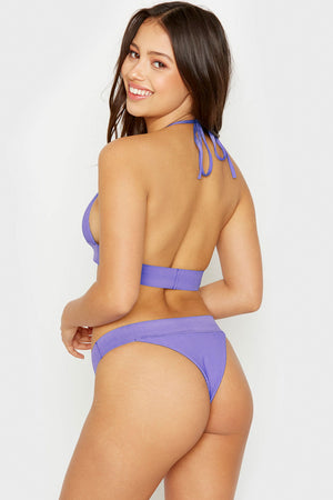 Frankies Bikinis Winnie Amethyst Ribbed Skimpy Bottom