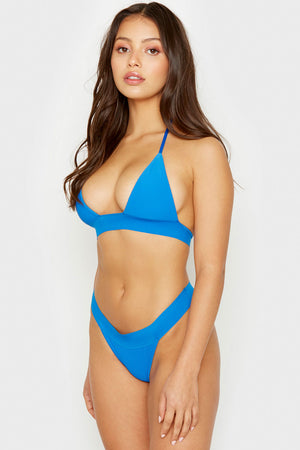 Frankies Bikinis Winnie Cobalt Ribbed Skimpy Bottom