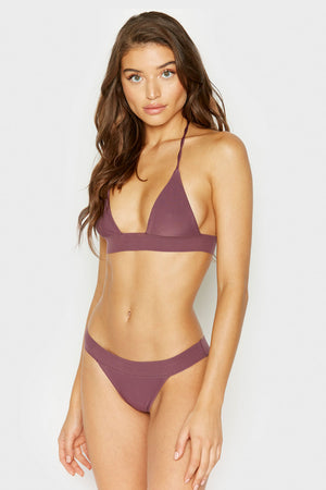 Frankies Bikinis Winnie Sangria Ribbed Skimpy Bottom