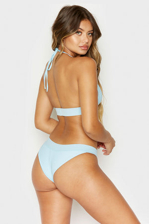 Frankies Bikinis Wyatt Powder Ribbed Cheeky Bottom