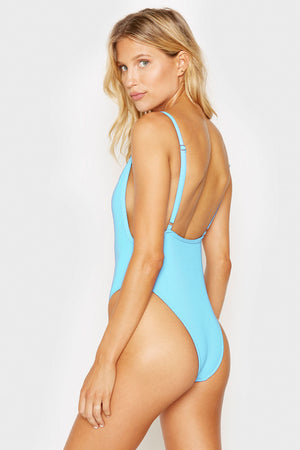 Frankies Bikinis Mallory Ribbed One Piece Oasis