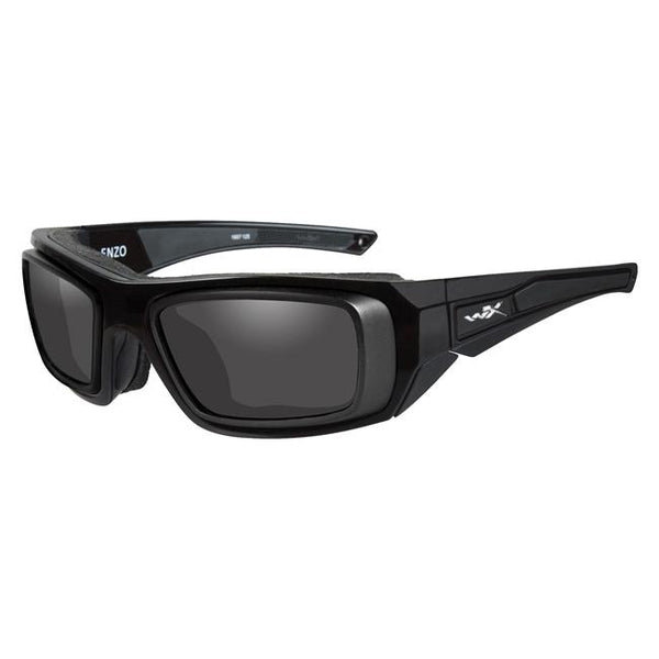 Gloss Black with Rx Rim (frame) - Smoke Gray (lens)