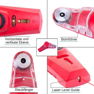 DOMOM Staub Collector Laser-Wasserwaage 2 in 1 - hallohaus