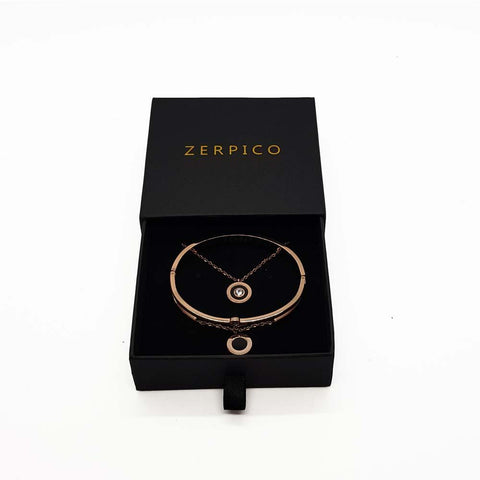 Zerpico - Jericho Rosé Gold Necklace & Bracelet - Superb