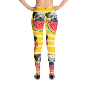 Pug Watermelon Design Leggings