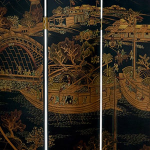 Oriental Furniture 6 ft. Tall Ching Ming Festival Screen