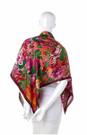 Cannes Patchwork Rose Silk Scarf