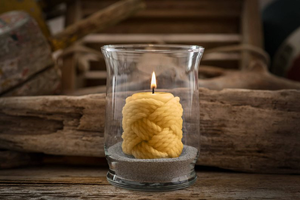 Nantucket Knot Beeswax Candle