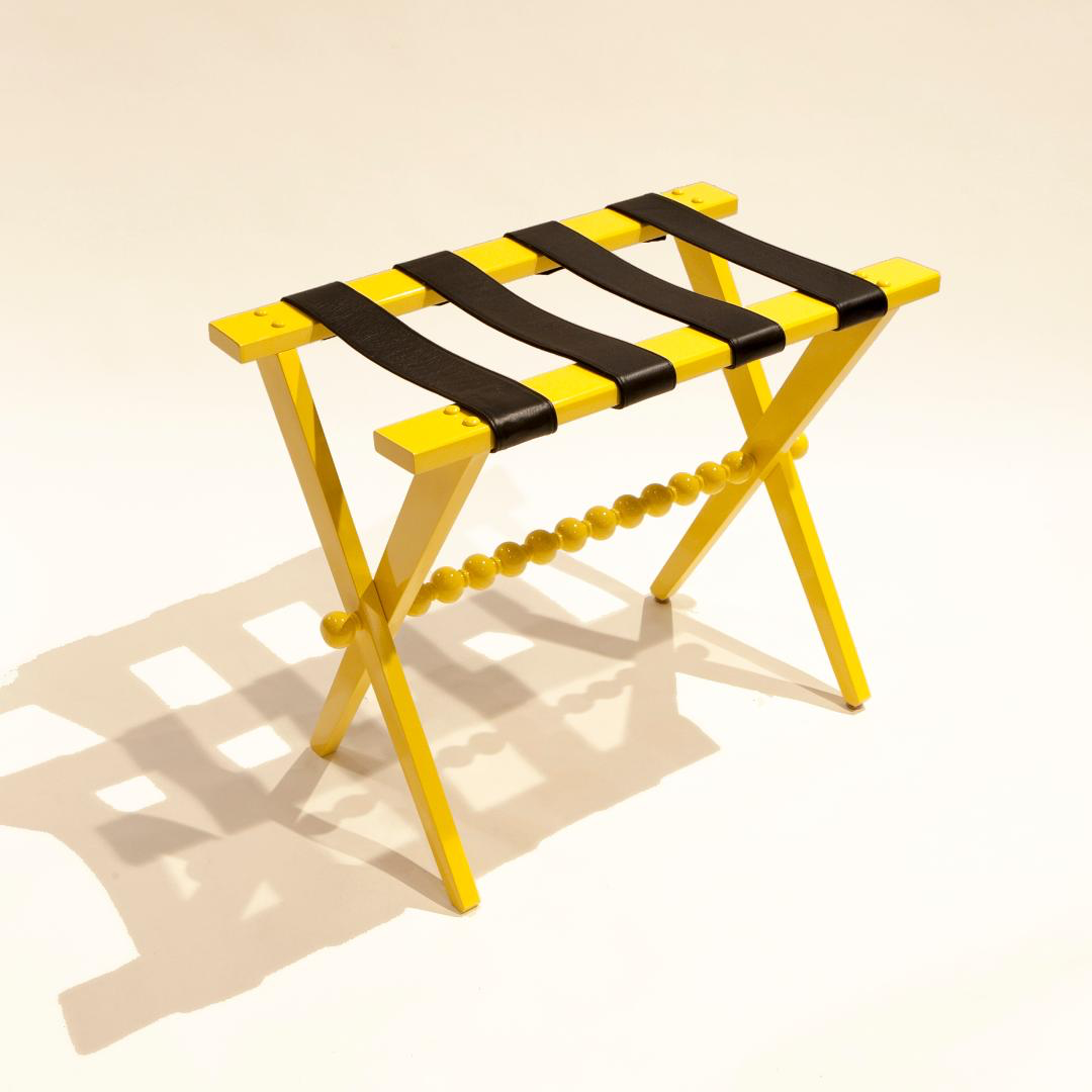 The Abbotsgrove Luggage Rack - in Yellow Lacquer