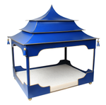 Pagoda Pet Bed Blue and Gold
