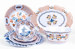 Fabulous Orange Blue White Melamine Collection