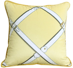 Hermes style Cushion Pillow - Yellow