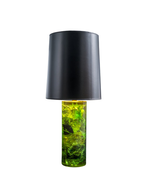 VINTAGE GREEN RESIN TABLE LAMPS