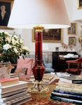 William IV Glass Column Lamp