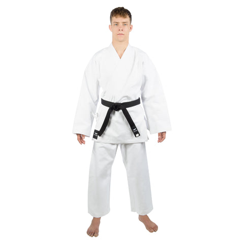 TOKYODO Karate Uniform for Men & Women – 3pc Gi Set Includes Pants, Kimono Jacket & White Belt – Comfortable 14 oz Heavy Weight 100% Cotton