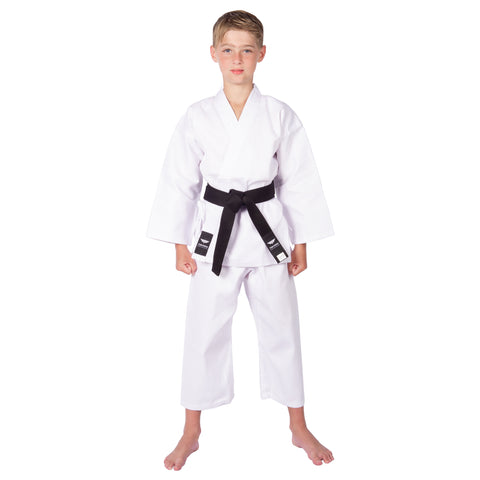 Karate Gi/Uniform Martial Arts Jacket, Pants & White Belt - 6 Oz, Light Weight