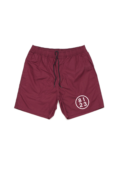 8123 Men's Swim Trunks (Maroon)