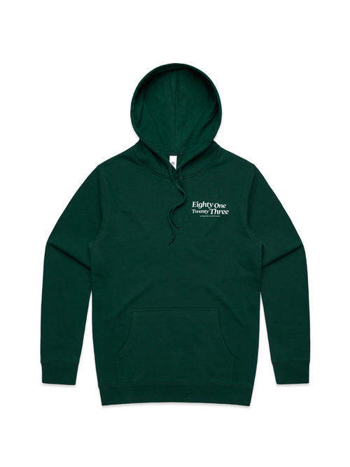 8123 Indie Record Company Hoodie - Green