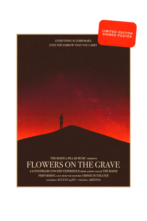 Flowers On The Grave Signed Poster