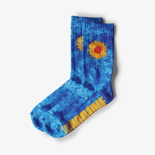 Tie Dye Sunflower Socks