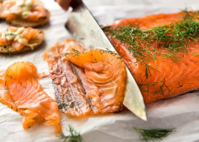 Gravlax or Cured Salmon