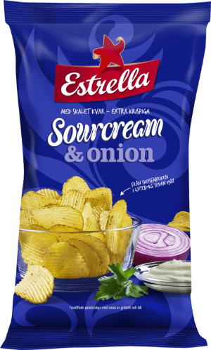 Estrella Sourcream & Onion Crisps