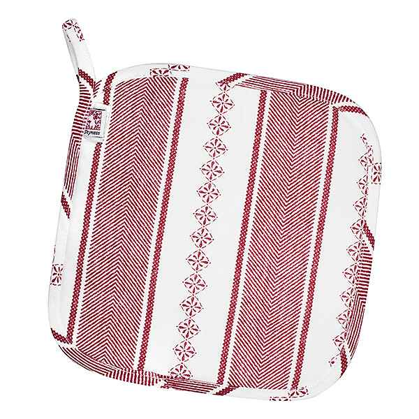Potholder Bolster White/Red