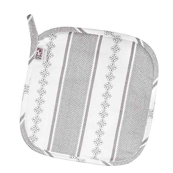 Potholder Bolster White/Grey