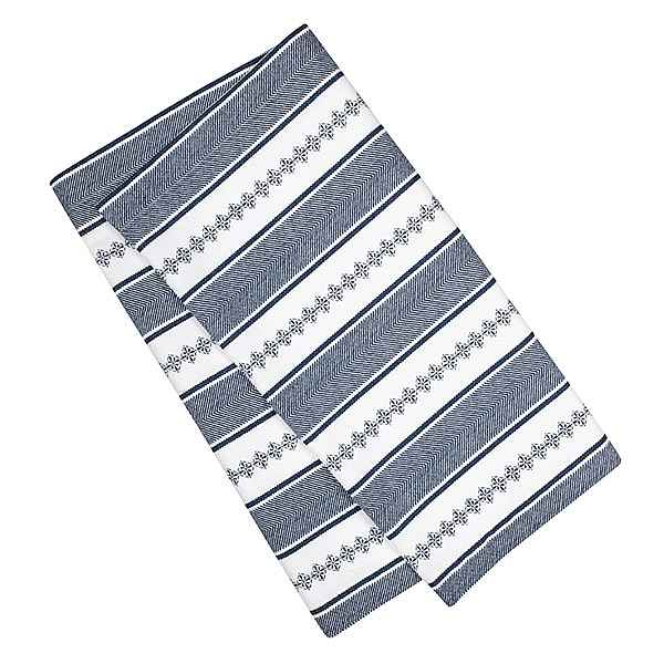 Runner Bolster White/Navy 42x150cm