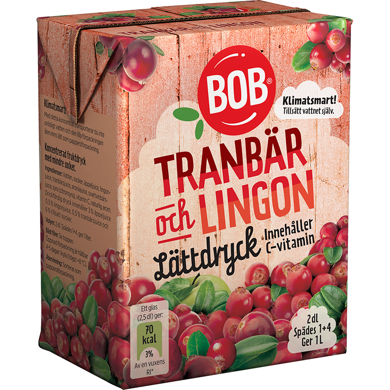 BOB Light Cordial Cranberry And Lingonberry