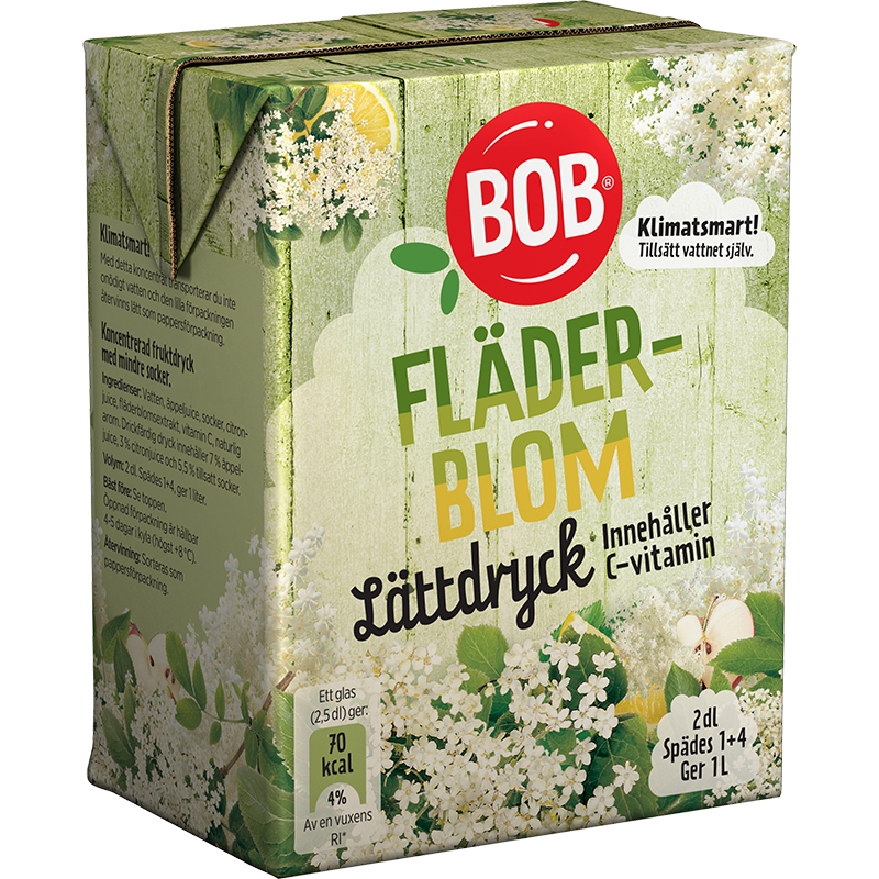 BOB Light Cordial Elderflower