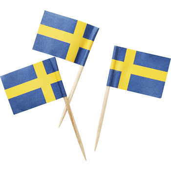 Swedish Flags on Toothpicks