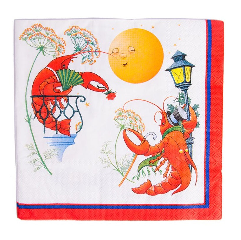 Crayfish Napkin Moon