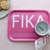 FIKA Tray in Pink/White, Rainbow/White, Blue/Yellow