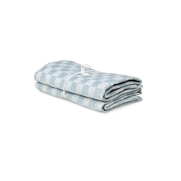 Towel 2-Pack Schack - Ice Blue-White
