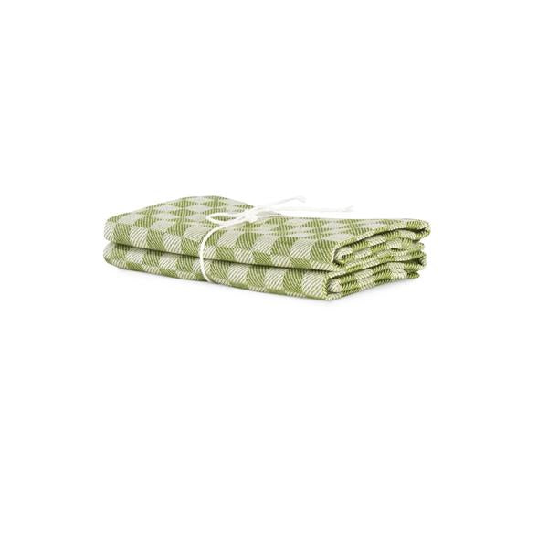 Towel 2-Pack Schack - Green-White