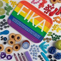 FIKA Tray in Pink/White, Yellow/White, Rainbow/White, Blue/Yellow