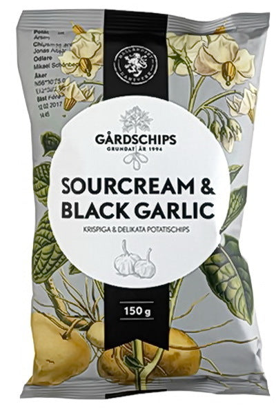 Gårdschips Sourcream & Black Garlic