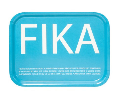 FIKA Tray in Pink/White, Turquoise/White