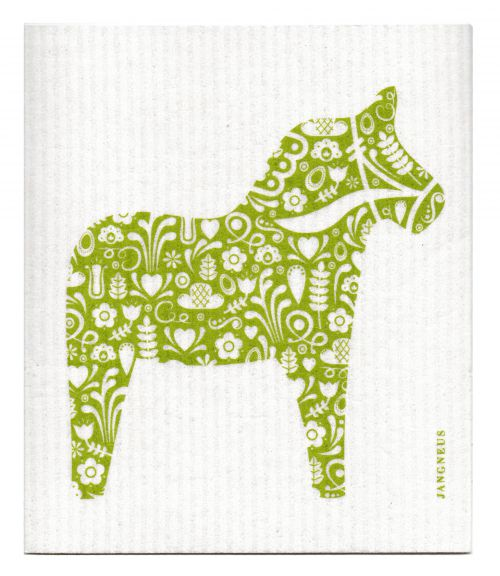 GREEN DALA HORSE DISHCLOTH