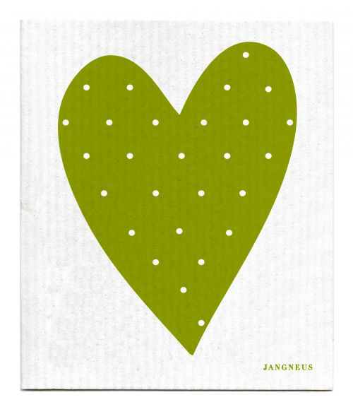 GREEN HEART DISHCLOTH