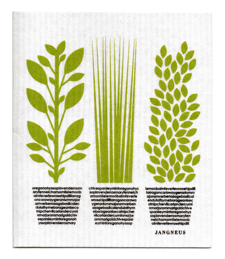GREEN HERBS DISHCLOTH