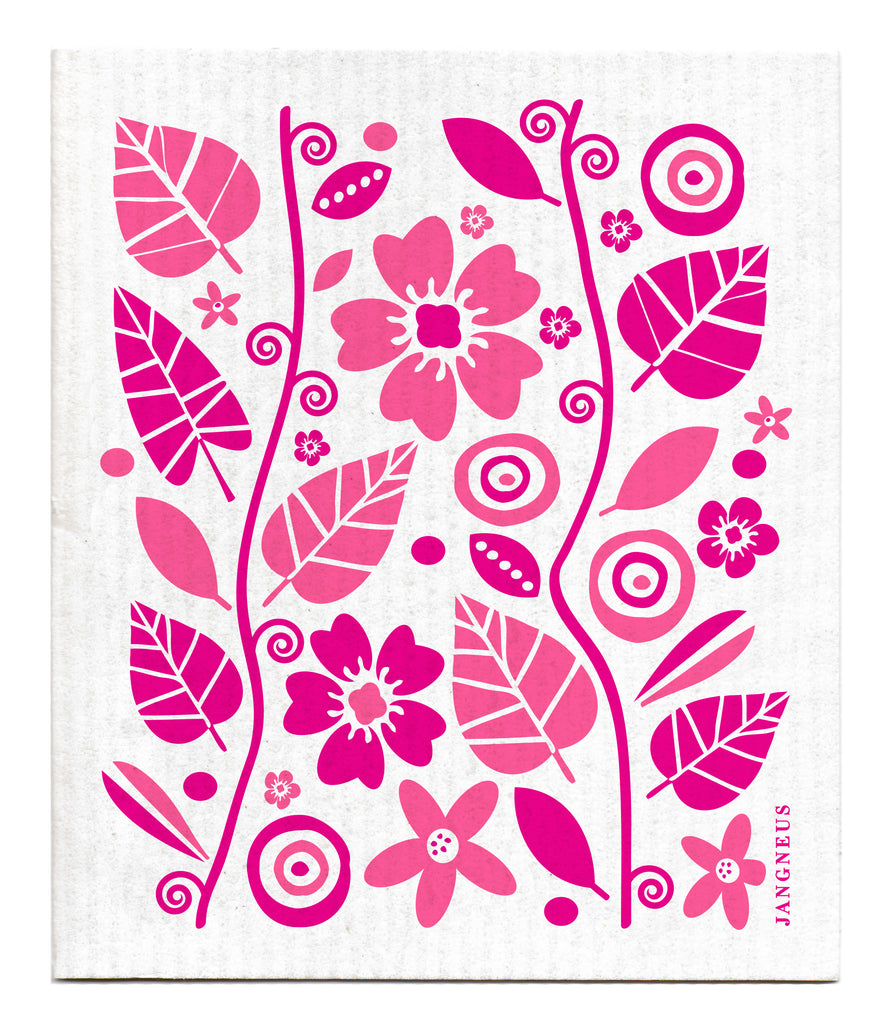 PINK GARDEN DISHCLOTH