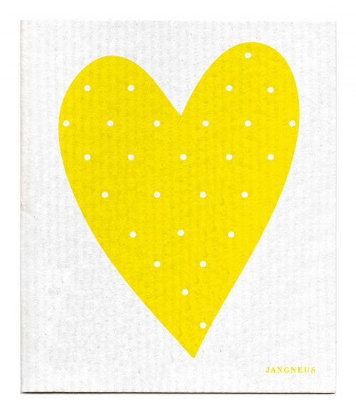 YELLOW HEART DISHCLOTH