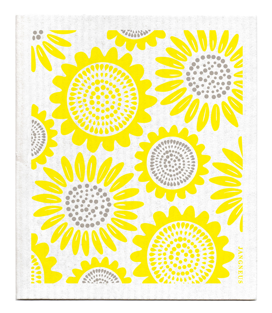 YELLOW SUNFLOWER DISHCLOTH
